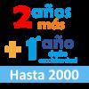 Extensión de 2 años de garantía + 1º año de daño accidental hasta 2000 euros